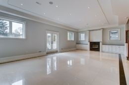 basement renovations with marble flooring